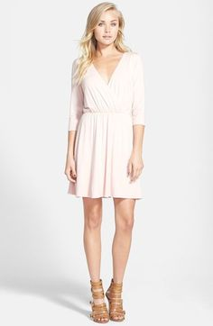 Free shipping and returns on June & Hudson Long Sleeve Open Back Dress at Nordstrom.com. A surplice bodice forms the plunging V-neckline of this supersoft knit mini dress finished with a slim tie securing the open back for a seductive exit.