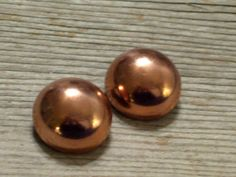 Vintage RENOIR Copper Modernist Dome Clip Earrings by TheCopperCat