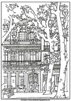 Decorate This Big House Adults Architectures Coloring Pages With Your Desired Color Give Exp