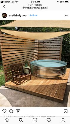 Small Backyard Pools, Backyard Patio, Backyard Landscaping, Stock Pools, Stock Tank Pool, Diy Swimming Pool, Backyard Paradise, Patio Design, Garden Design