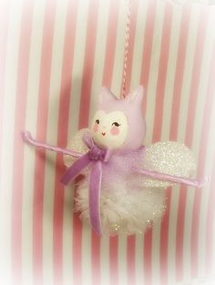 Erin the Ballerina pixie Kitty Cat paper clay by sugarcookiedolls