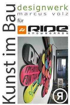 Kunst am Bau 'Tiefsee-Anglerfisch'  Schuppen aus RIDE-Snowboards ....  für RIDE-Snowboards/Europe