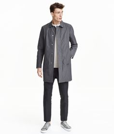 Car coat in lightweight, crisp fabric with a pleat at back for improved movement. | H&M For Men