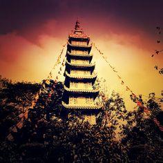 """""""Breakfast view at the pagoda. #pagoda #vietnam #hochiminhcity"""""""
