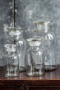 Mothology.com - Clear Apothecary Jars with Lid, $12.95 (http://www.mothology.com/clear-apothecary-jars-with-lid/)