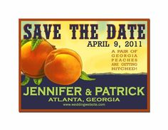 Georgia Peach Save the Dates $42.00