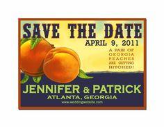 Georgia Peach Save the Dates $42.00