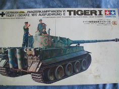 1970's Tamiya 1/35 Scale Military German Panzerkampfwagen VI Tiger I (Sd. Kfz. 181) Ausfuehrung E Motorized Model by MyHillbillyWays on Etsy