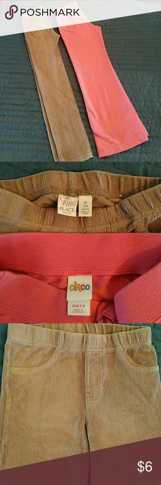 Lot of 2 Girls Pants Jeggings Circo Place 7-8 Add these to your bundle and they will be only $4! Posh fee is too high on just one item:( Lot of 2 girls bottoms: tan ribbed velour jeggings by Place and pink cotton sweats (lounge pants) by Circo.  Both are size 7-8. Jeggings have two pockets on the back. They are in GUC, I didn't find any stains or tears but they show some wear at knees and on seat. Sweats are in EUC, no stains or tears, minimal to none wash wear. Circo Bottoms Sweatpants…