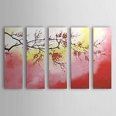Pintados à mão pintura a óleo floral de 5 Set 1302-FL0064 – BRL R$ 372,01