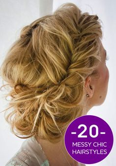 These messy chic hairstyles still give off a chic look for any occasion!