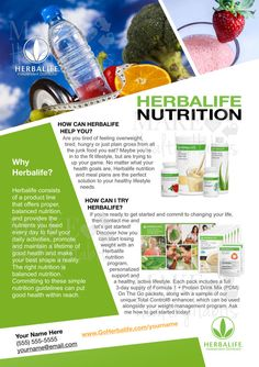 #Printable #Herbalife Flyer by KellyLynnetteDesigns on #Etsy