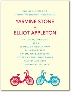 bike invite