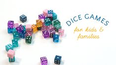 The best dice games for kids! These easy dice games are simple to learn, help kids practice math skills, learn about probability and give them opportunities for building social skills in a screen free environment. Dice Games, Math Games, Fun Games, Games To Play, Articulation Activities, Daycare Games, School Games, Easy Games For Kids, Games For Teens