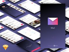 We are happy to share with you the creative free mail app Ui Kit created for InVision.