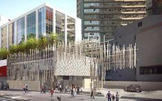 Vídeo revela montagem da fachada de Kengo Kuma em SP - ARCOweb
