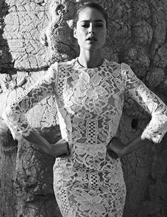 Weißes Kleid, Spitze, Stickerei, Kleider, Haarkranz, Garderobe, High-fashion 60cd10b3cb