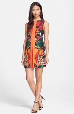 Ted Baker London 'Barbee Toucan' Print Shift Dress available at #Nordstrom