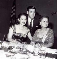 With brother Charles and their mom together in the 50's