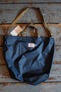 f791f0435e Battenwear Packable Tote Navy Coyote Nylon Ripstop. Shoulder Strap