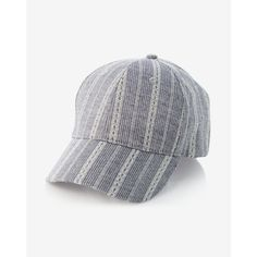 Express Lace Stripe Baseball Hat ($20) ❤ liked on Polyvore featuring accessories, hats, blue, express hats, bills hat, cap hats, baseball caps and blue cap