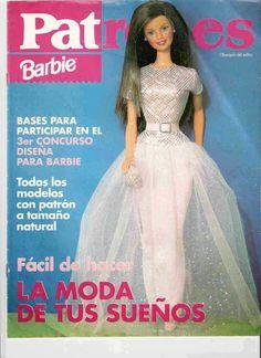 Revistas de manualidades Gratis: patrones para hacer vestidos de barbie