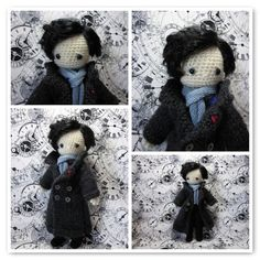 Sherlock Holmes Amigurumi - FREE Crochet Pattern and Tutorial