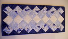 Hanukkah Quilted Table Runner Winter Birds by ForgetMeNotQuilteds