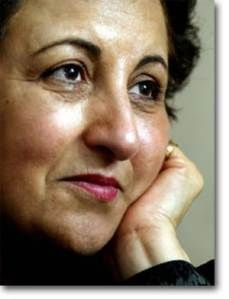 "||SHIRIN EBADI Iran's first female judge, founder of the Human Rights Defenders Centre and the first Muslim woman to be awarded the Nobel Peace Prize||  ""Human rights is a universal standard. It is a component of every religion and every civilization."" -Shirin Ebadi"