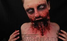 Split Ripped Jaw Mouth Halloween SFX Makeup Tutorial 2015 (Zombie)