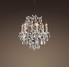 Rococo Iron Crystal Chandelier Small At Restoration Hardware