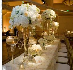 White flowers and bling!