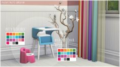 flamingblaze Toodler Stuff Recolored recolored in Pixeldot's Palette Compilation. Sims 4 Cc Furniture, Toddler Furniture, Sims 4 Mods Clothes, Sims Mods, Maxis, Sims 4 Pets, Muebles Sims 4 Cc, Casas The Sims 4, Sims House Design