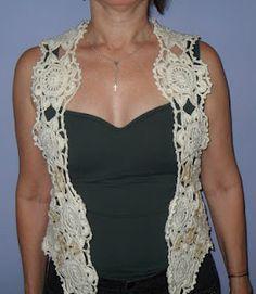 Beautiful Motif Vest, Bolero