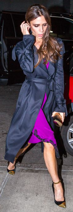 Victoria Beckham Had an Awful Lot of Fun in These Purple Dresses