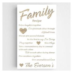 Family Recipe Personalized Wall Art ($84) ❤ liked on Polyvore featuring home, home decor, wall art, twin pack, canvas wall art, personalized canvas wall art, personalized home decor and canvas home decor