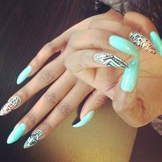 STILETTO NAILS / NAIL ART / NAIL DESIGNS / ACRYLIC NAILS