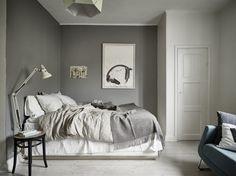 Однокомнатная квартира в Гётеборге, спальня в гостиной, скандинавский стиль