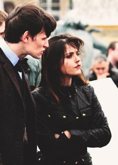 Matt Smith and Jenna Louise Coleman  ►•◄ #DW Cute and I like her jacket