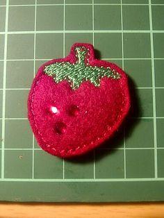 Strawberry Felt Fridge Magnet