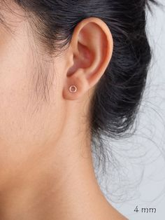 Circle Sterling Silver Stud Earrings, Minimalist earrings are perfect for everyday jewelry. They are also beautiful gift for everyone.  Product…