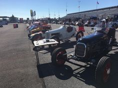 Some of the cool vintage cars on display in the paddock at the @IndyCar race at @poconoraceway this weekend