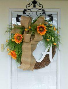 Spring wreath Summer wreath Grapevine by CottageHouseWreaths