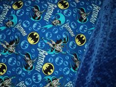 BATMAN BABY BLANKET Minky And Flannel Superhero by AuntBsBonnets, $33.00