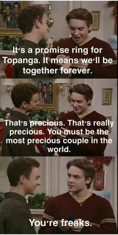 68 ideas for funny quotes about relationships couples hilarious boy meets world Tv Show Quotes, Movie Quotes, Funny Quotes, Funny Memes, Couple Quotes, Boy Meets World Quotes, Girl Meets World, Cory And Topanga, Love Quotes For Boyfriend
