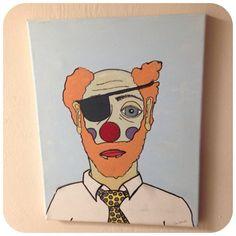 Creepy Clown canvas painting