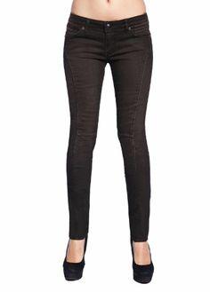 Stitch's Women's Skinny Jeans Low Rise Brown Denim