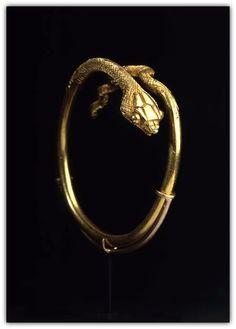 Ancient Egyptian Snake Bracelet.