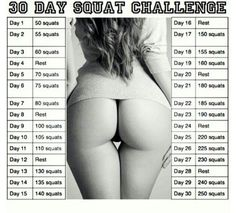 The 30 Day Squat Challenge Plus. The 30 Day Squat Challenge has been a hit around the internet World and has been responsible for shaping some awesome butts. We've took the great workout and added a twist! Fitness Workouts, Fitness Motivation, Fitness Diet, At Home Workouts, Health Fitness, Butt Workouts, Squat Workout, Easy Workouts, Fitness Quotes