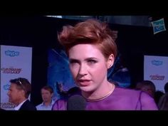 ▶ Karen Gillan Discusses Nebula at Marvel's Guardians of the Galaxy Red Carpet Premiere - YouTube